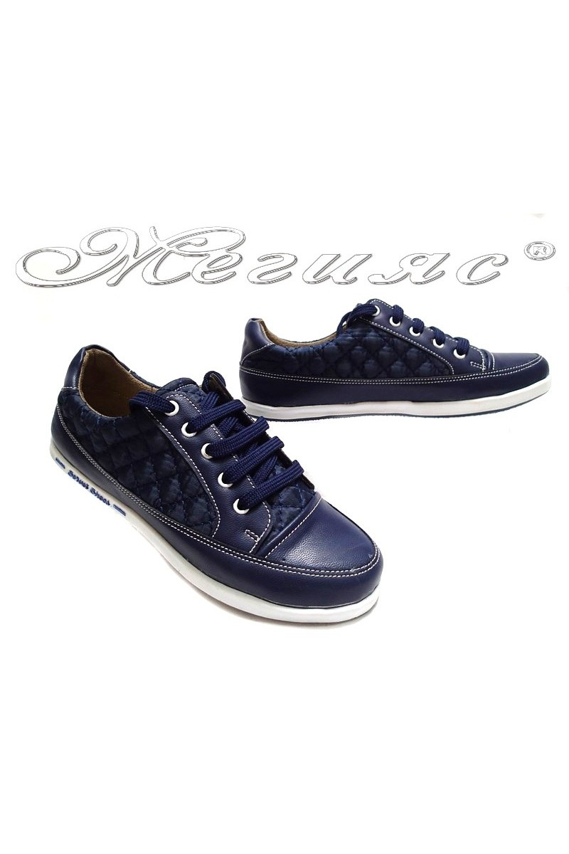 Дамски обувки 500 сини текстил+мат