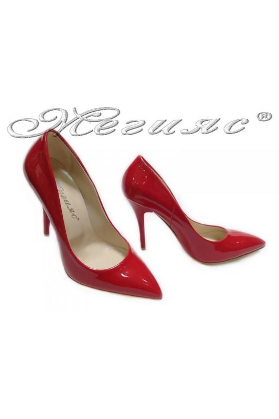 Women elegant  shoes 2015 red  high heel pu