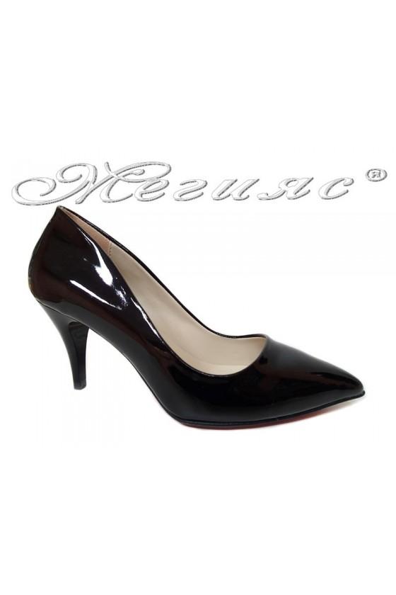 Women elegant  shoes 2016 middle heel pu