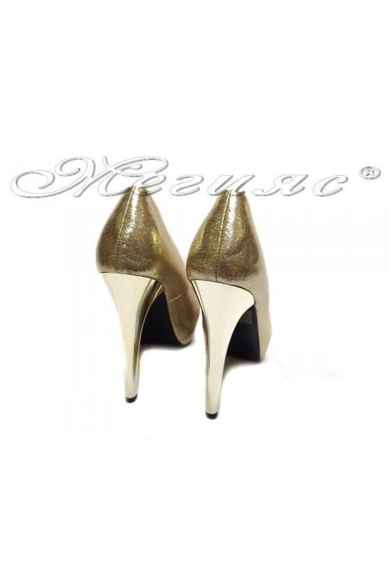 Women  shoes 155422 gold high heel