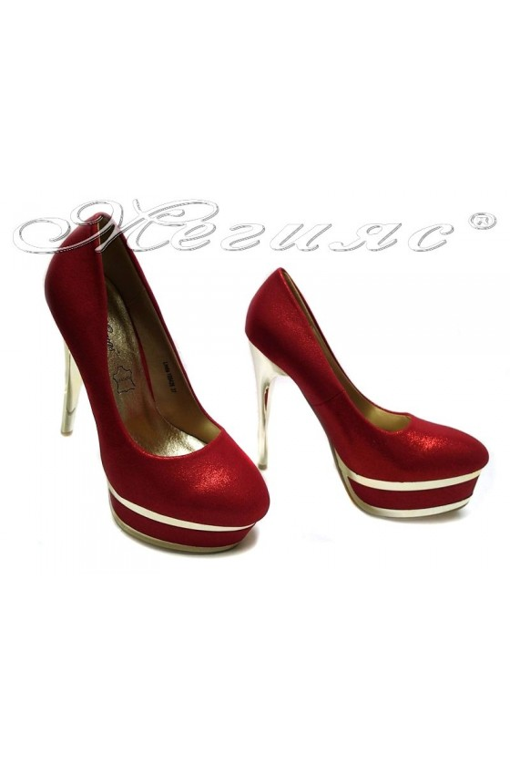 Lady elegant shoes 155426 red high heel