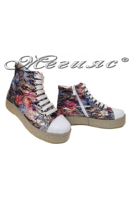 Women sport shoes 01 kec flowers pu