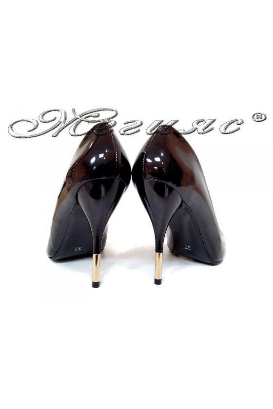 Women elegant  shoes 2016 high heel black pu