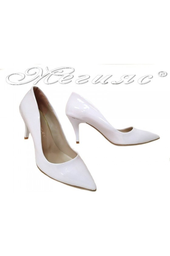 Women elegant shoes 2016 white middle hell pu