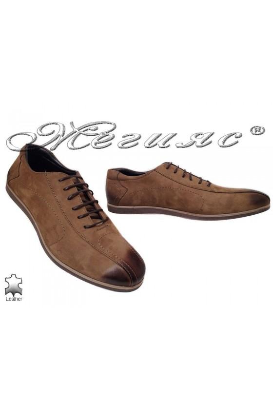 Мъжки обувки Sharp 8501 таба естествен набук