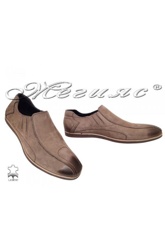 Мъжки обувки Sharp 8502 кафяви естествен набук