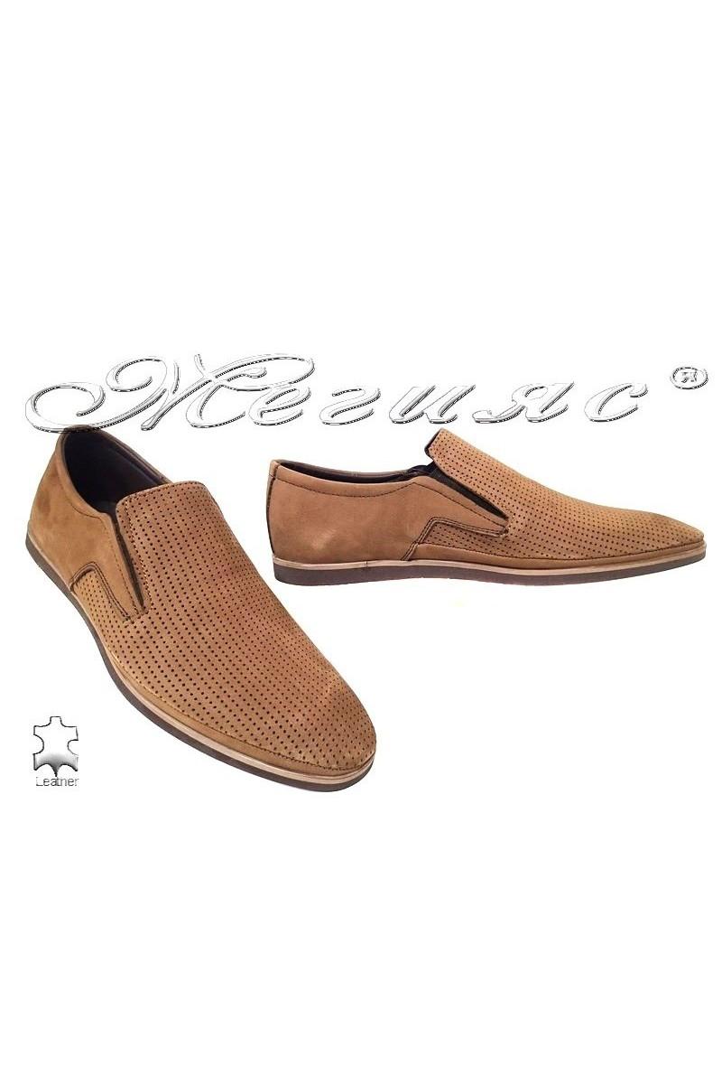 Мъжки обувки Фантазия 026-023 таба естествен набук