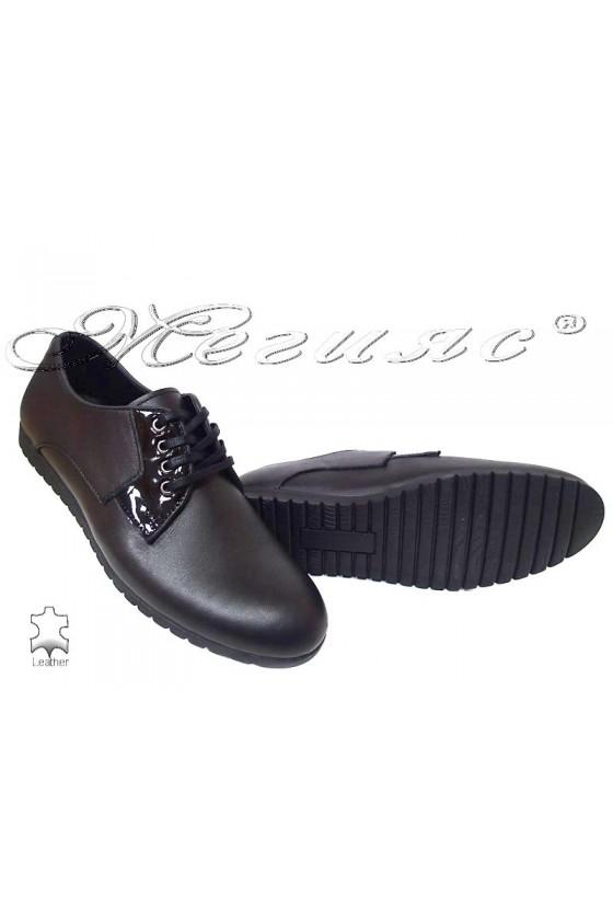 Мъжки обувки 0355 черни естествена кожа