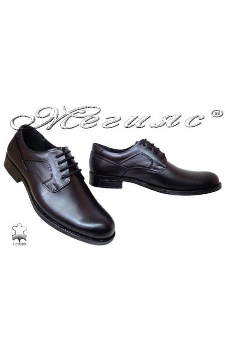 Мъжки обувки XXL 120 черни естествена кожа