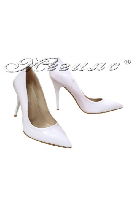 Women elegant shoes 2015 high heel white