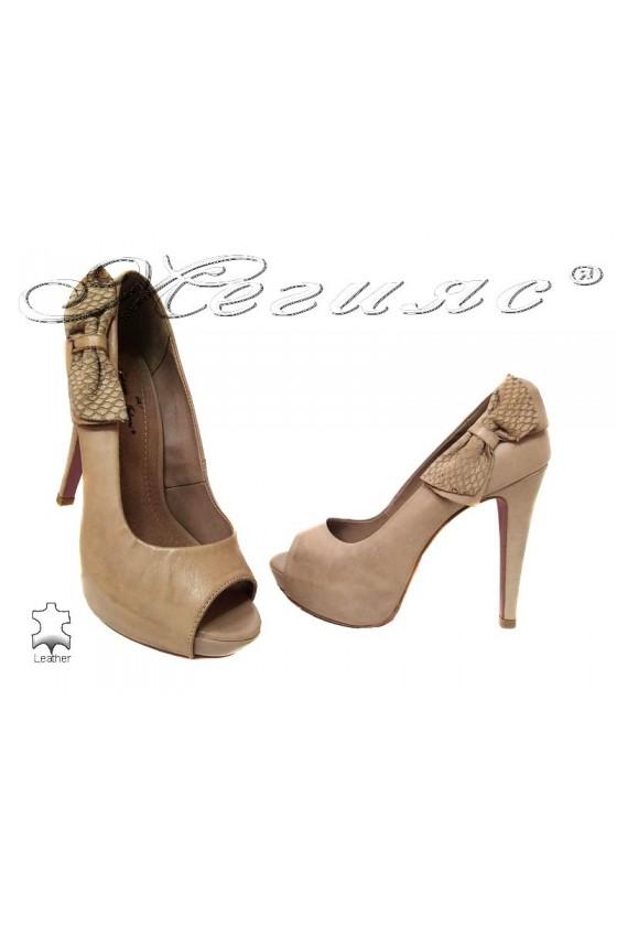 Дамски обувки 138501alm estestvena koja