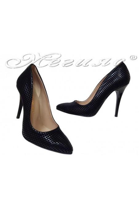 Women shoes 050 high heel black pu