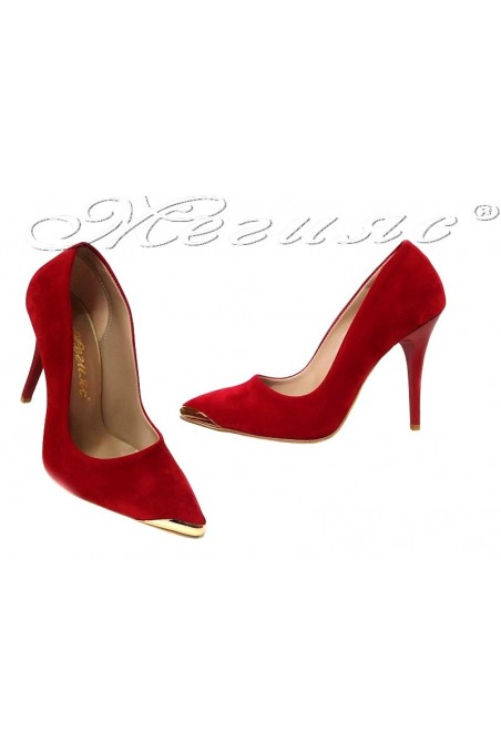 Women shoes 1500 high heel red suede