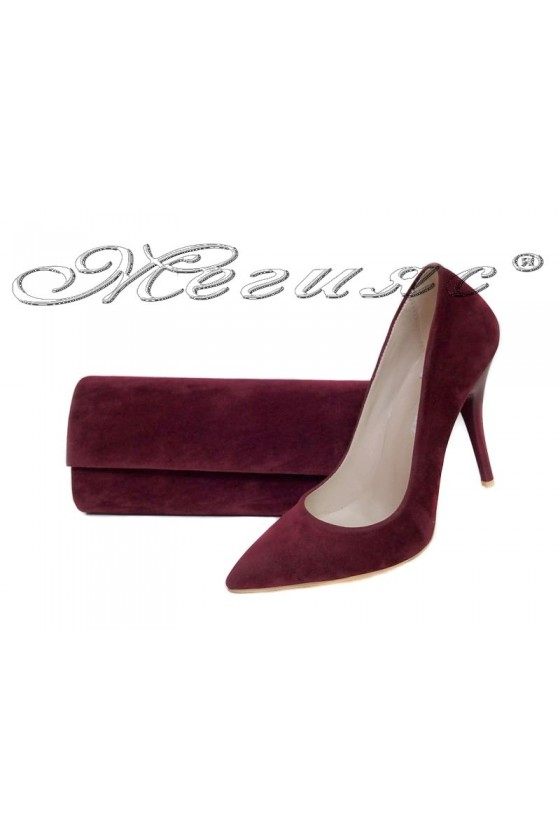 Lady shoes 2015 bordo+BAG 373