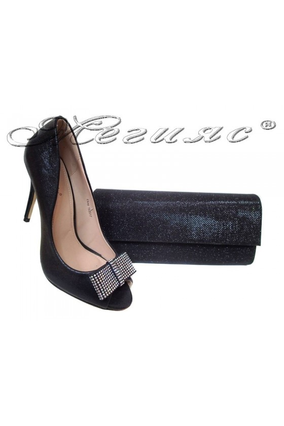 Lady shoes 155517 black+BAG 373