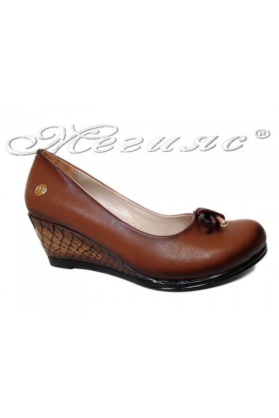 Women casual platform shoes 1015 tab pu