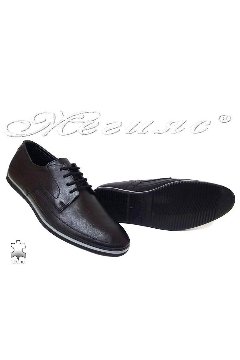 Мъжки обувки Фантазия 027-014 черни естетсвена кожа