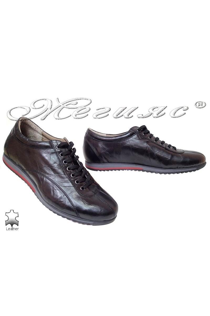 Мъжки обувки 2115 черни естетсвена кожа