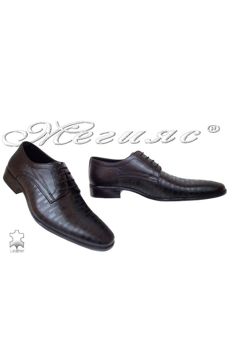 Мъжки обувки Фантазия Р-06 черни естетсвена кожа