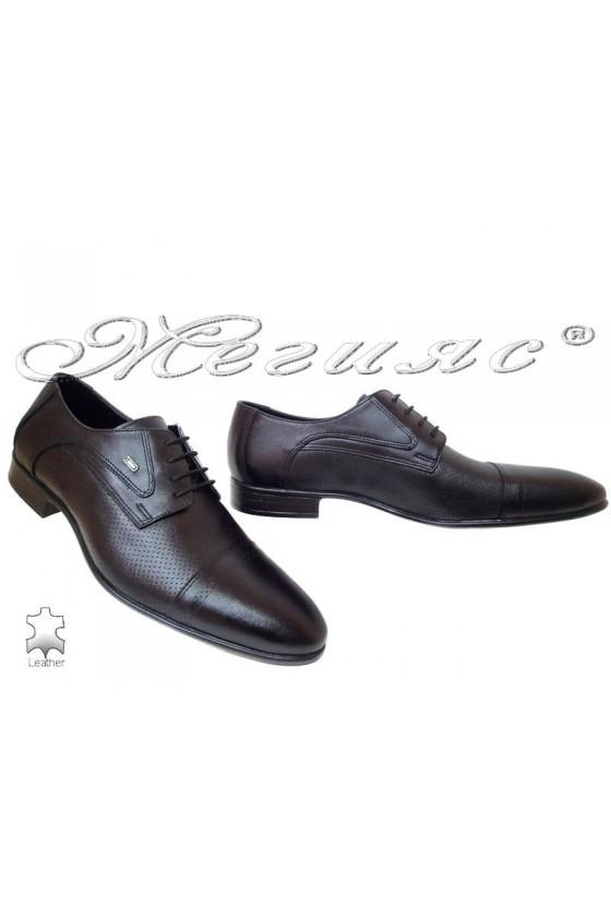 Мъжки обувки Фантазия 200-616 черни естествена кожа