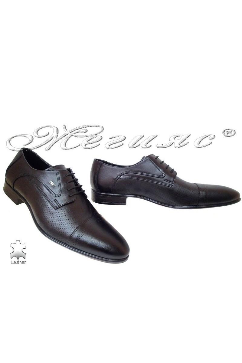 Мъжки обувки Фантазия 200 черни естетсвена кожа