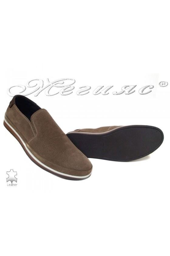 men's shoes 007 dk.beige