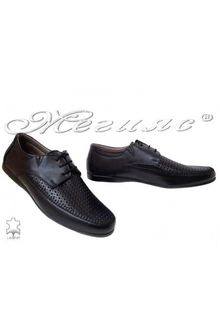 Мъжки обувки Ато 252 черни естествена кожа