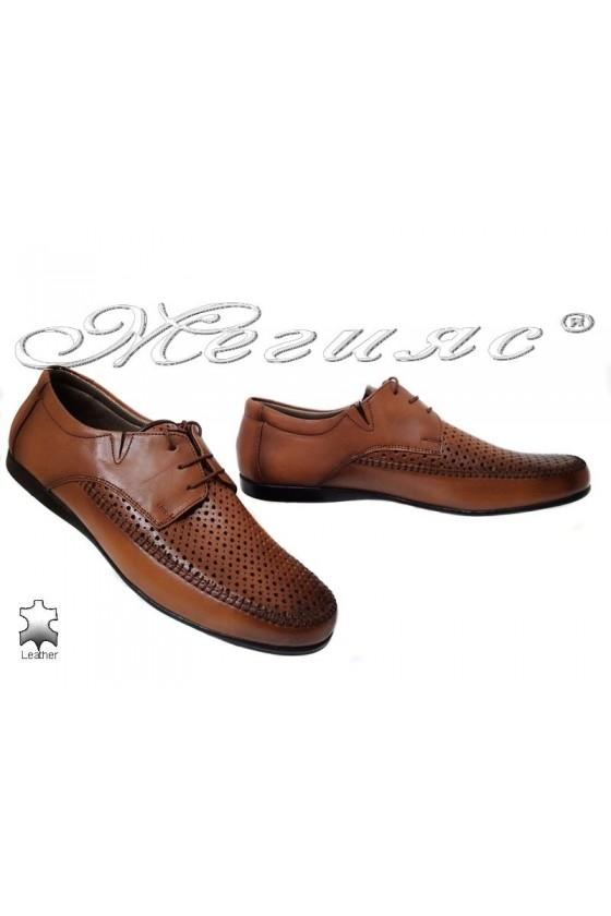 Мъжки обувки Ато 252 антик естествена кожа