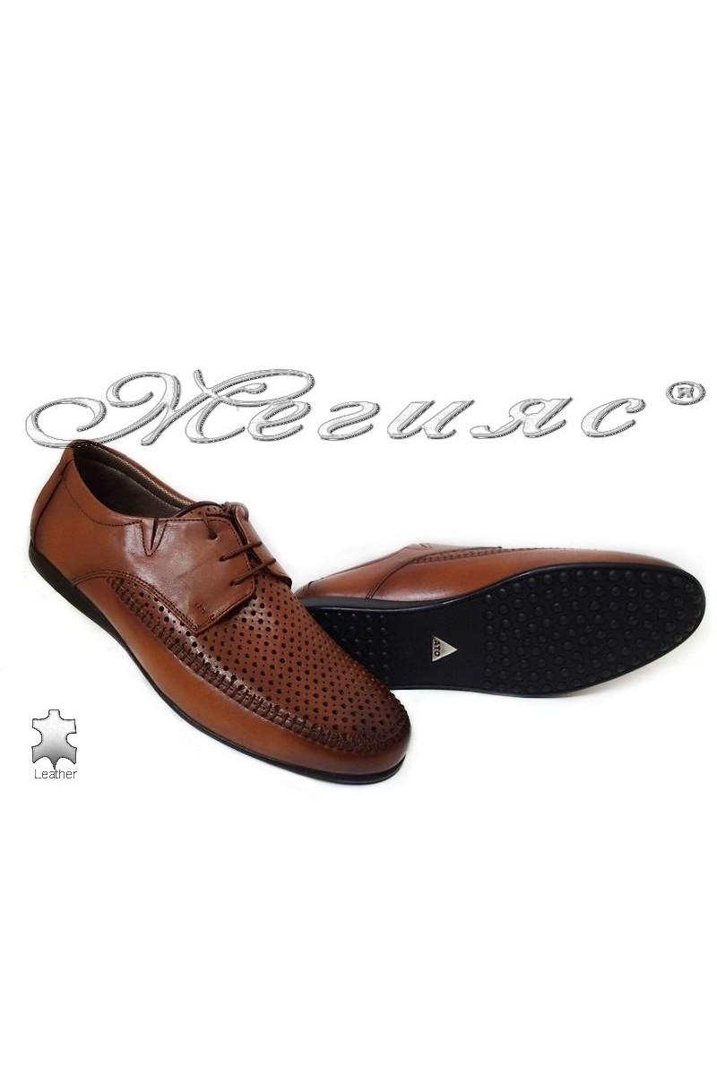 Мъжки обувки Ато 252 антик естетсвена кожа