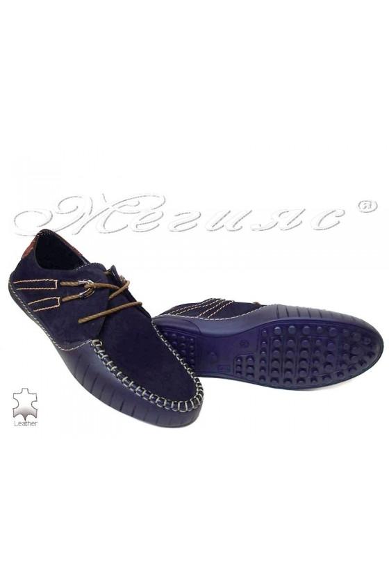 men's shoes R-07 blue