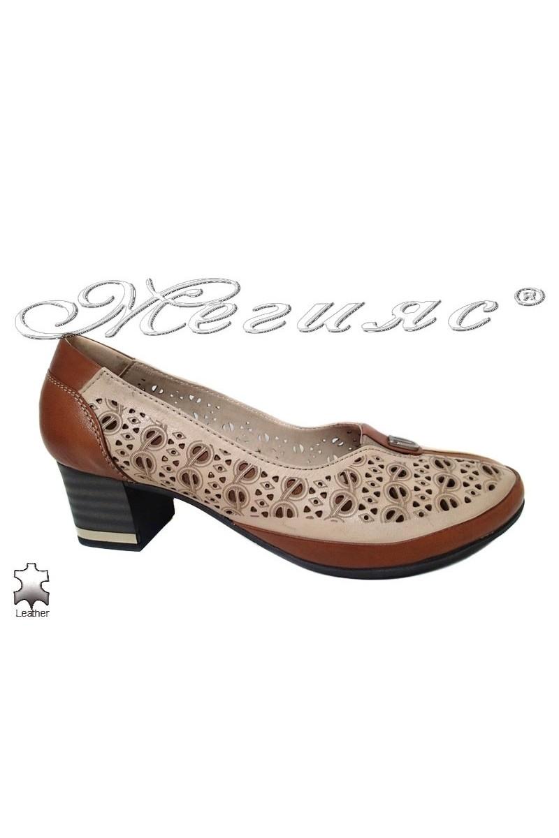 Дамски обувки 568 таба естествена кожа