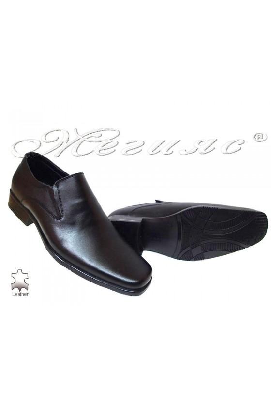 Мъжки обувки Ато 2503/903 черни естетсвена кожа