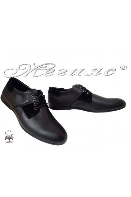 Мъжки обувки Тренд 11 черни естествена кожа