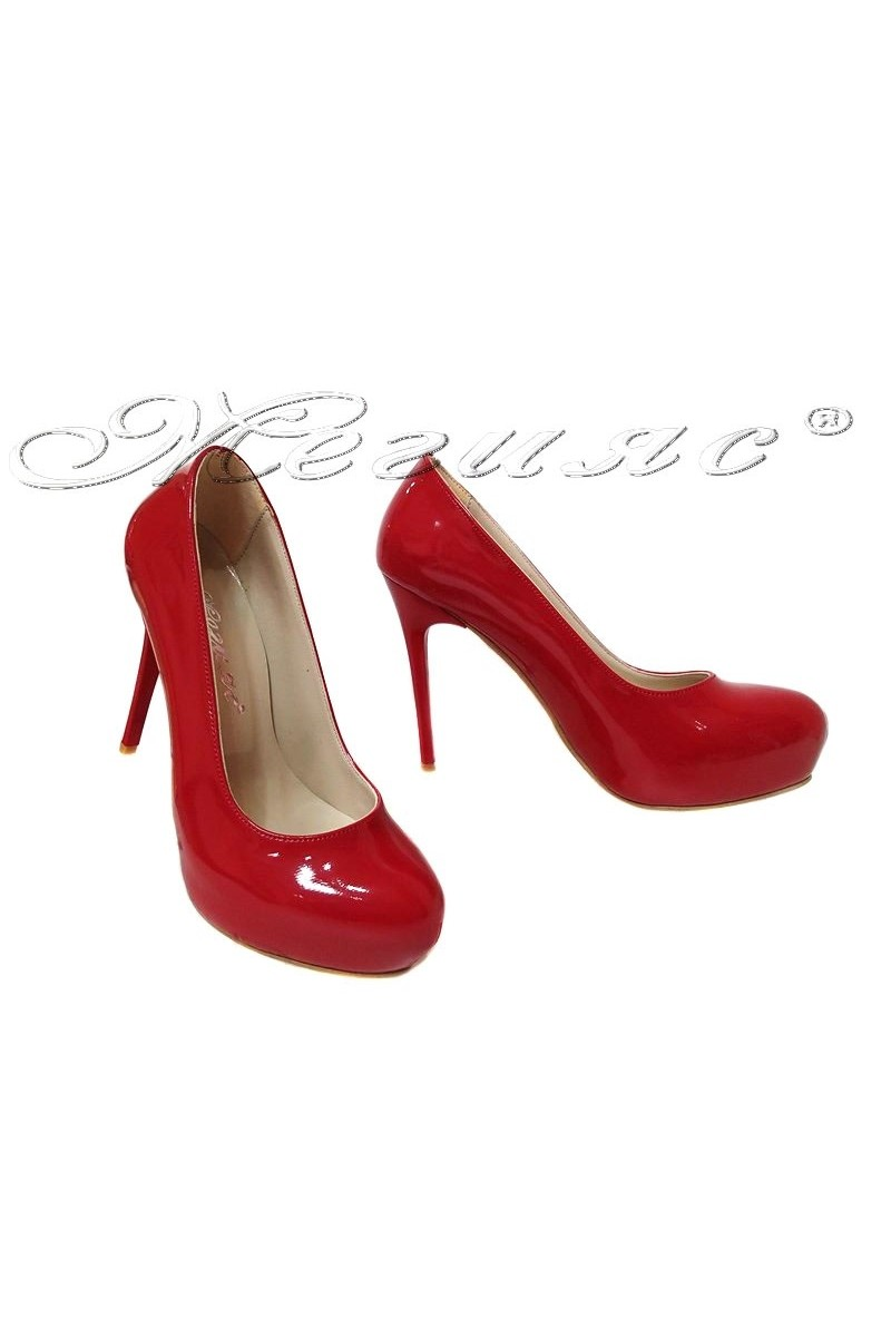 Women shoes 019 high heel platform red