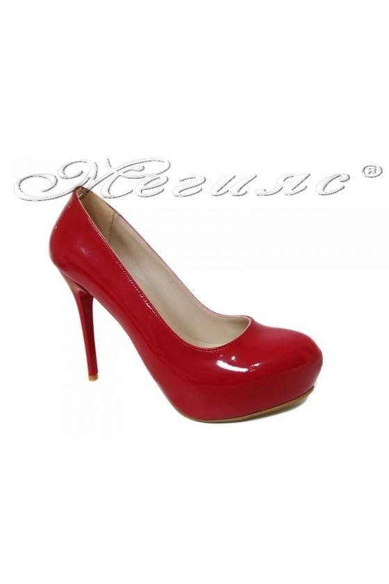 Women  shoes 019 high heel platform red