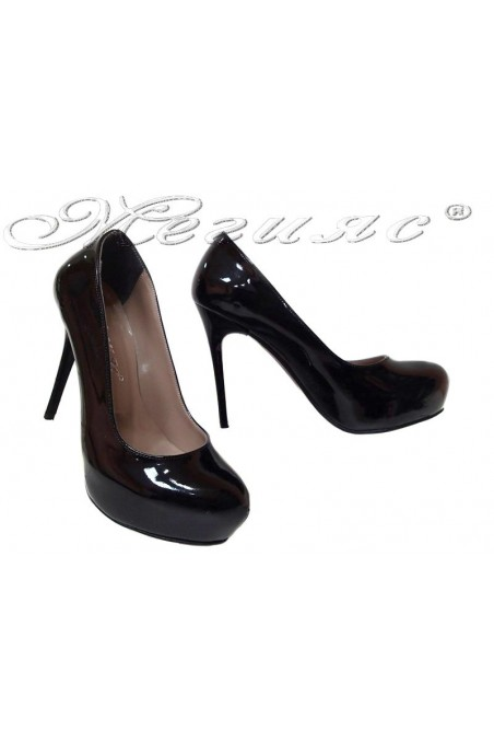 Women shoes 019 high heel platform black