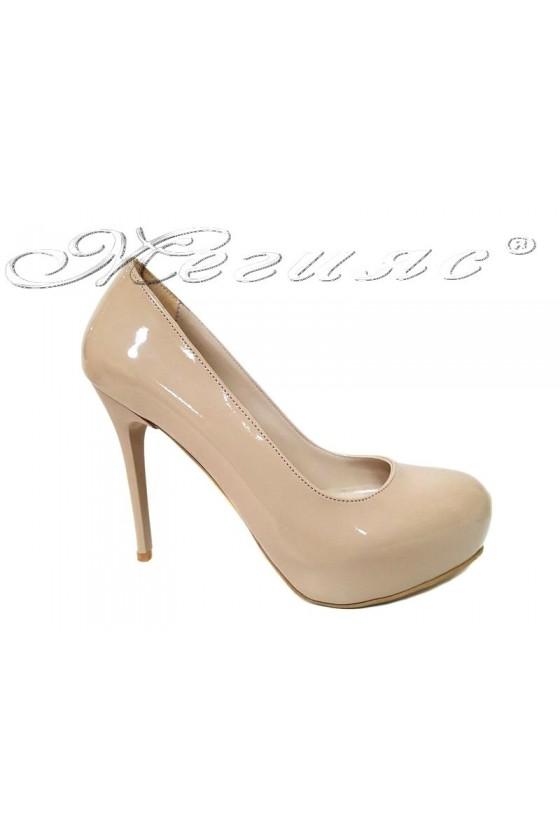 Women  shoes 019 high heel platform beige