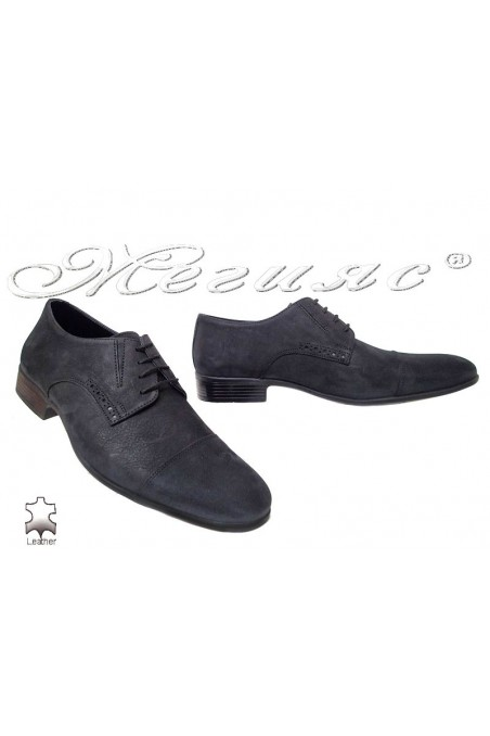 Men elegant shoes 309 black leather