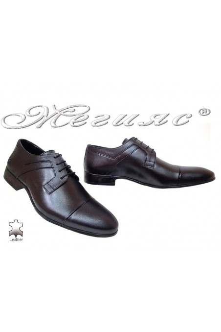 Men elegant shoes 116 black leather