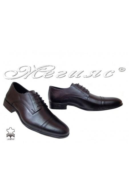 Мъжки обувки Фантазия а-304 черни елегантни естествена кожа