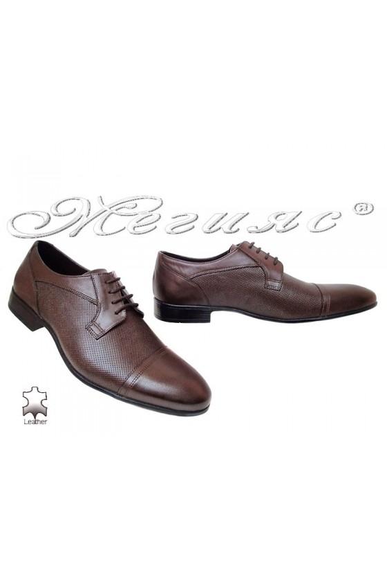 Мъжки обувки елегантни от естествена кожа кафяви