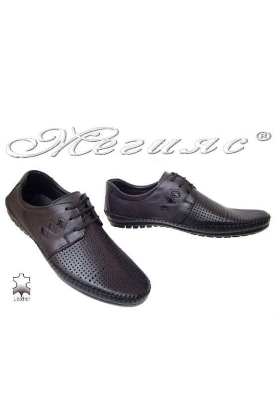 Мъжки обувки Фантазия 03-014 черни ежедневни естетсвена кожа