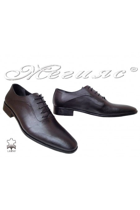 Men elegant shoes 535 black leather