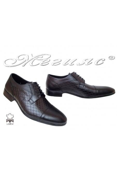 Men elegant shoes 106/606 black leather