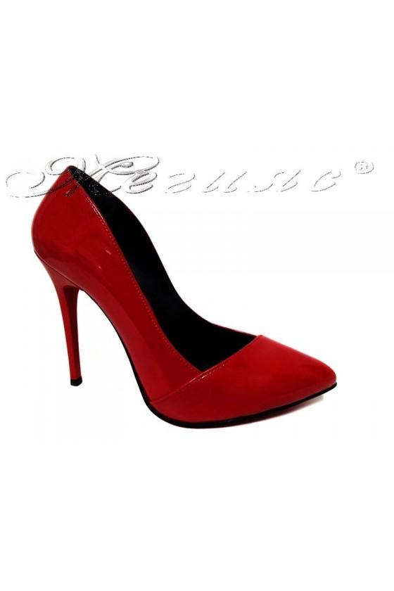 Women elegant  shoes 1911 high heel red