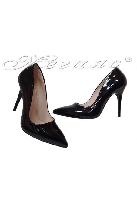 Women shoes 150 high heel black patent