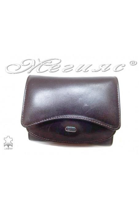 Дамско портмоне 020 кафяво естествена кожа