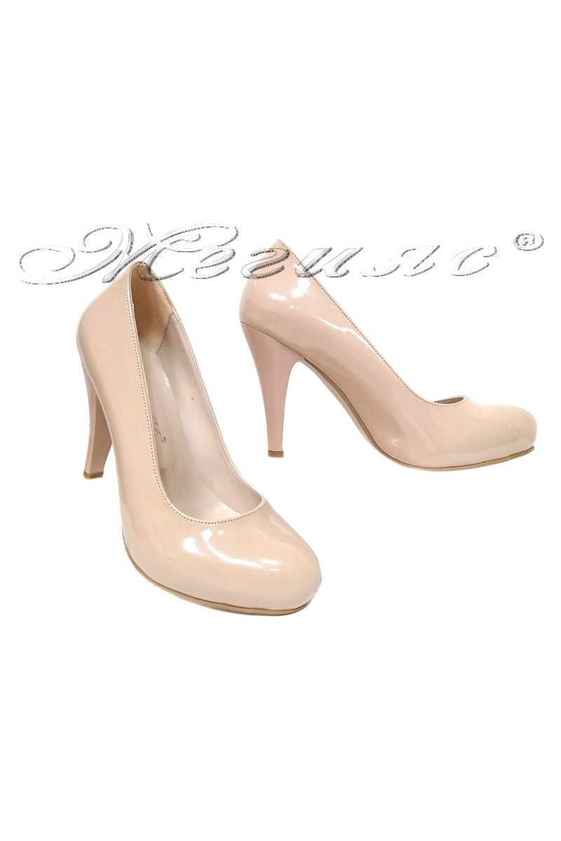 Women shoes 15 high heel light beige