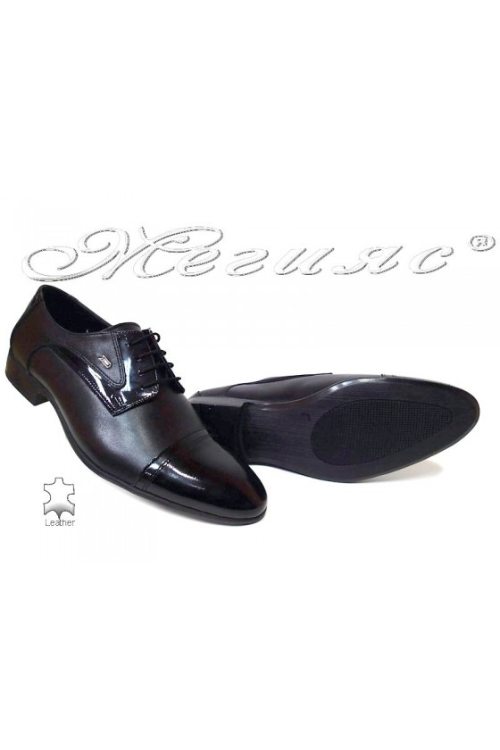 Men formal shoes Fantasia 118-0-1 A black patent /all leather