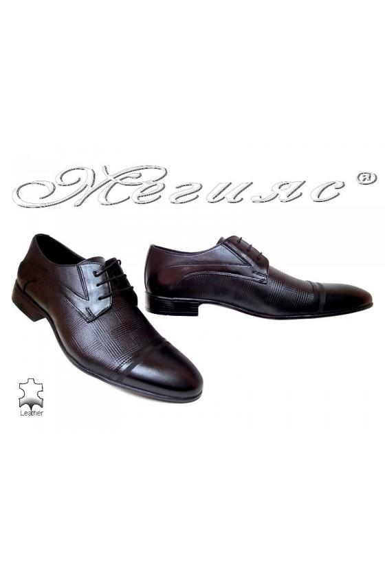 Мъжки обувки черни естествена кожа елегантни 113-333
